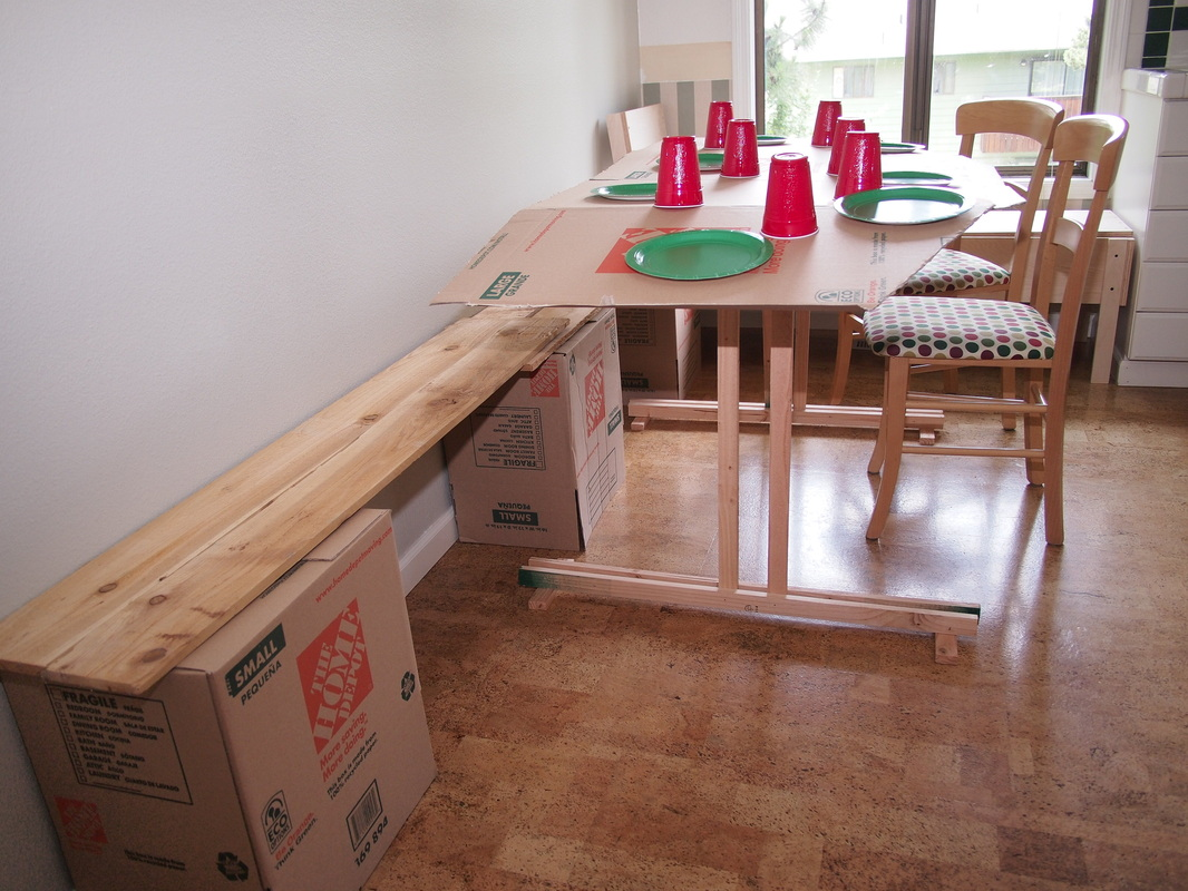 This (sorta) Old Life: Big wood table mock-up